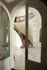 Door glass detail