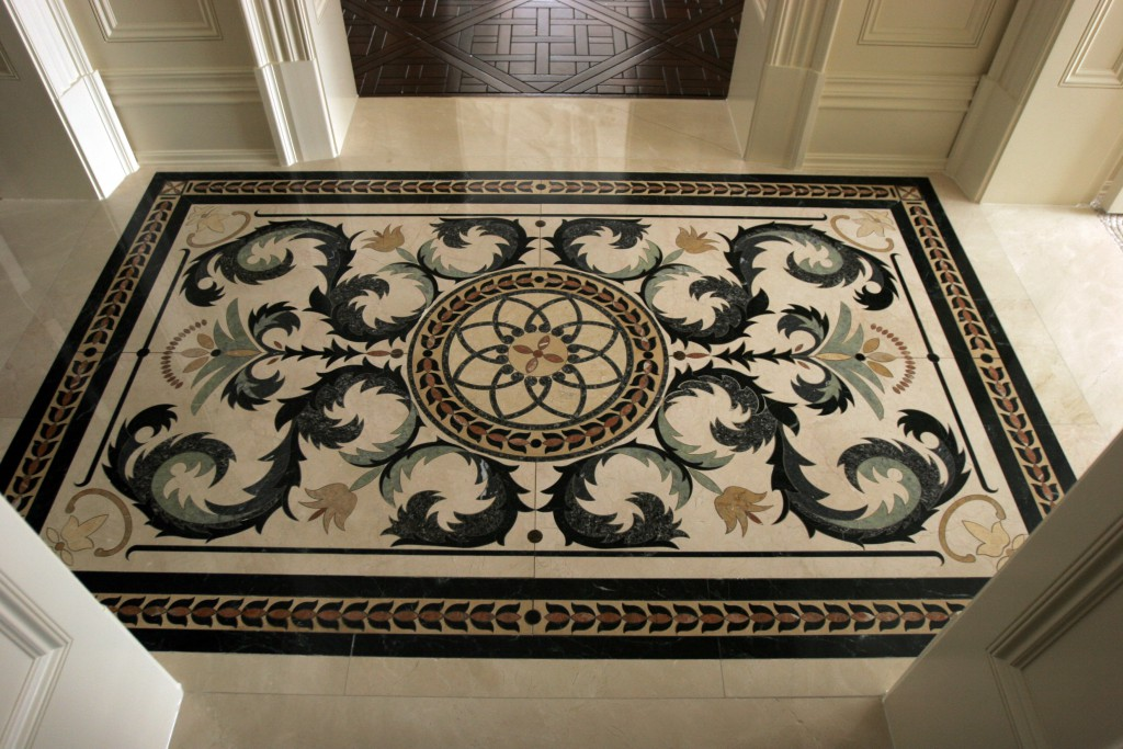 Traditional Bath Floor Detail